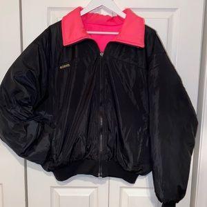 Vintage 80s Columbia Reversible Puffer Jacket